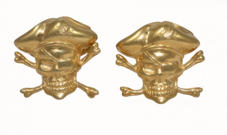 Cufflinks Pirates in sterling silver yellow gold plated URSO