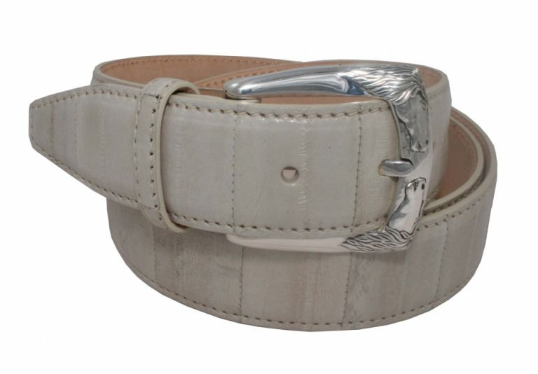 Belt Urso Horse Buckle in sterling silver and Eel Skin avealible red,blue ,beige URSO