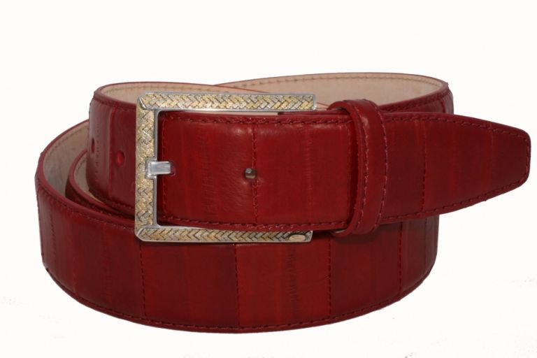 Belt Urso, Buckle in gold18kt and sterling silver leather Eel Skin aveilable Red,Blue Beige URSO