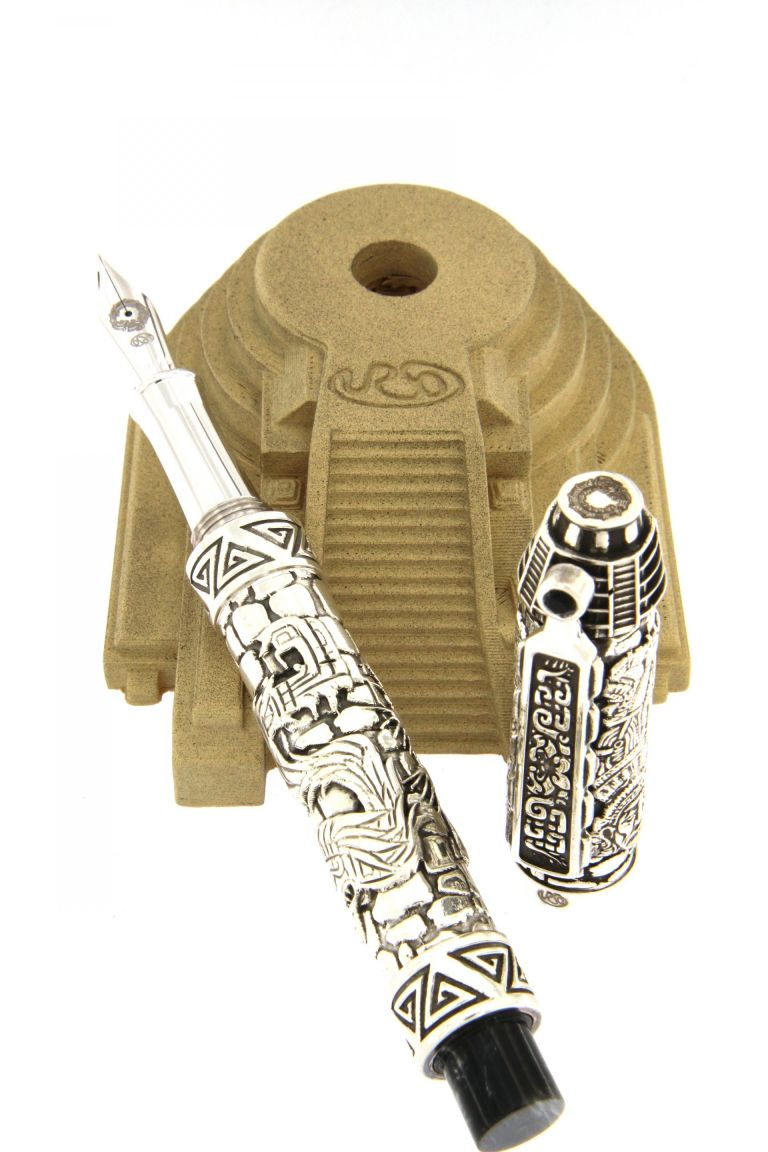 FOUNTAIN PEN QUETZALCOATL (AZTEC CIVILIZATION) SILVER URSO
