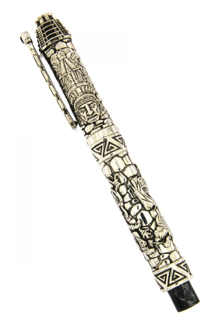 FOUNTAIN PEN QUETZALCOATL (AZTEC CIVILIZATION) SILVER