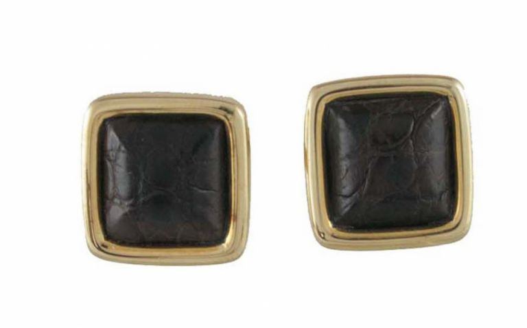 CUFFLINKS CROCOS YELLOW SOLID GOLD 18KT URSO