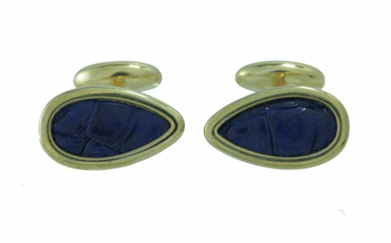 CUFFLINKS CROCOS IN STERLING SILVER GOLD PLATED URSO