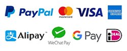 Payment with credi card and PayPal